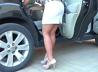 Car Legs  Milf Stockings Stockings