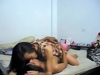Thai students fucking in their bedroom