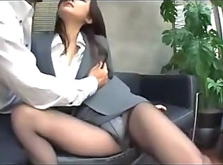 Office Panty Pantyhose Bus + Asian Japanese Busty Japanese Milf