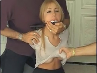 Forced Amazing Threesome Blonde Teen Forced Hardcore Teen