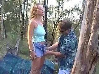 blond aus milf enjoy nature
