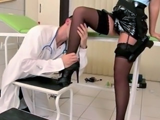 Uniform Doctor Legs Milf Stockings Stockings