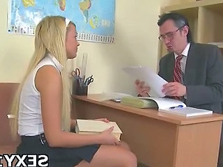 School Skirt Old and Young Blonde Teen Cute Blonde Cute Teen