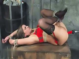 Hardcore Bondage With A Mistress Torturing Her Female Slave With Toys And A Sybian