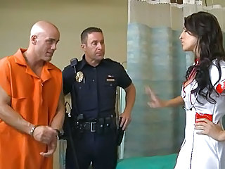 Prison Nurse Pornstar Brunette  Uniform Son