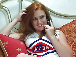 Redhead Amazing Cheerleader Student Teen Cheerleader Teen Redhead Big Cock Teen Big Tits Milf Clothed Fuck Threesome Bisexual