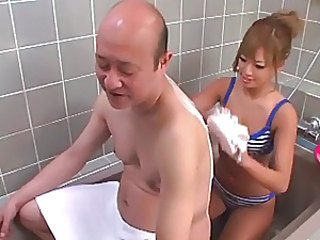 Bathroom Old And Young Babe Asian Babe Bathroom Bikini
