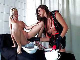 Insertion Latex Fetish Lesbian Babe