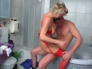 German Bathroom Blonde Bathroom Bathroom Mom Blonde Mature