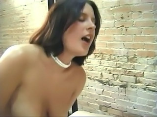 Black haired girl craves dildos up her pussy