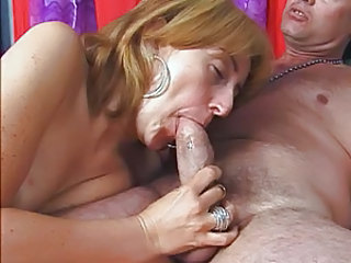 Moms Sucking a Big fat white cock