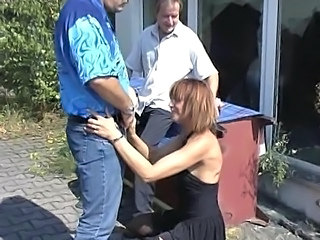 German Clothed Threesome German Milf Milf Threesome Outdoor