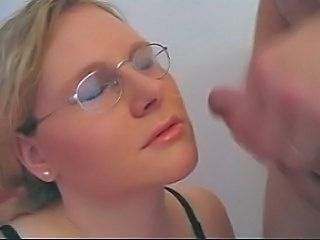 German Blowjob Glasses Amateur Blowjob Amateur Teen Blonde Facial