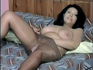 Masturbating Pantyhose Solo Big Tits Masturbating Big Tits Mature Masturbating Big Tits
