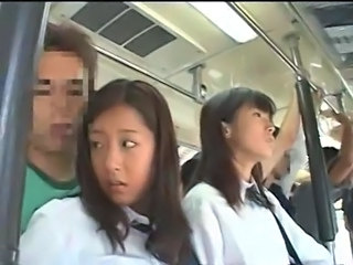Bus Japanese School Asian Teen Bus + Asian Bus + Public