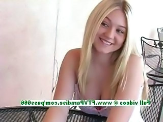 Alison adorable busty blonde teen talking about herself