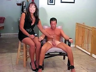 Mistress and slave - hot handjob