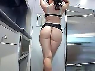 Lingerie Ass Kitchen Lingerie Milf Ass Milf Lingerie