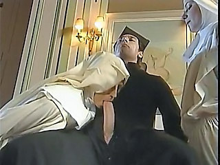 Nun Threesome Uniform Blowjob Big Cock Clothed Fuck Threesome Big Cock