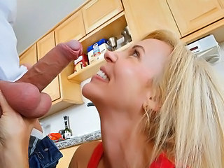 Big Cock Kitchen MILF Big Cock Blowjob Big Cock Milf Big Tits Blonde