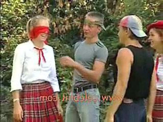 Teen School Game Funny Uniform Fetish Teen Party School Teen Teen School Schoolgirl Threesome Lesbian Threesome Hardcore