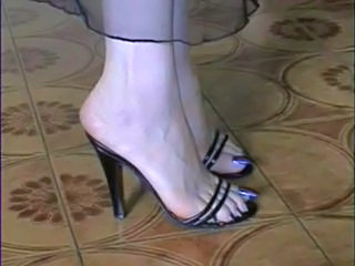 Video from: pornhub | My Naked and in Stockings long blue Toes!!!!!