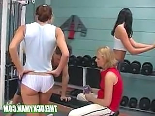 Guy screws 5 hot chicks in the gym lucky fucker