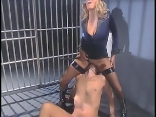 Busty Pandora has a sex prisoner to suck her pussy juices