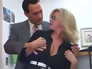 Hot Big Titted Mom With Her Boss In Office