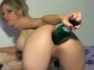 Insertion Shaved Babe Babe Ass Insertion Bottle