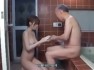 Old And Young Natural Japanese Asian Teen Bathroom Bathroom Teen