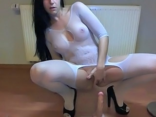 Toy Stockings Lingerie Dildo Milf Masturbating Amateur Masturbating Toy