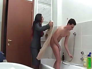 Italian Mom Bathroom Italian Mature Mother Old And Young