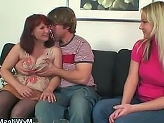 Family Threesome Old And Young Daughter Daughter Mom Family