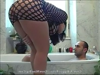 Fishnet Bathroom Hardcore Fishnet Italian Milf