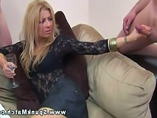Video from: tnaflix | CFNM babes have a quite game of tug cock while chatting