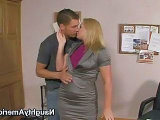 Office Kissing MILF Milf Office Office Milf