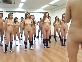 Naked In School Japanese Schoolgirls Do Jumping Jacks