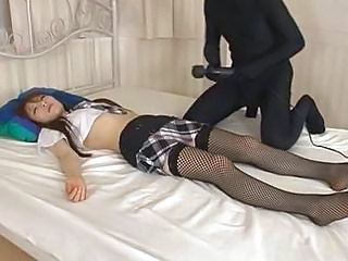 Sleeping Fishnet Japanese Asian Teen Cute Asian Cute Japanese