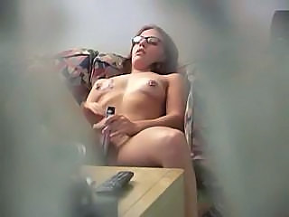 Glasses HiddenCam Masturbating Sister