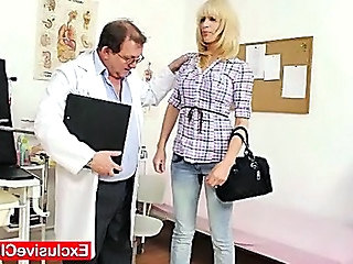 Doctor Babe Blonde Gyno Old And Young