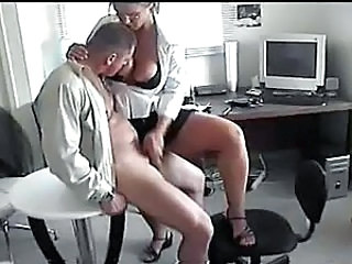 office handjob - Mature sex video -