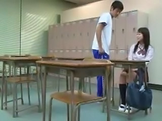 School Teen Uniform Asian Teen Classroom School Teen