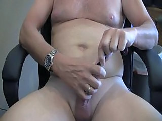 Man Rubber Licking Shaved