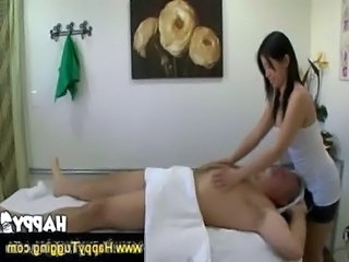 Old man gets a happy ending massage free