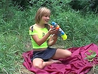 Teen With a Gun Toy