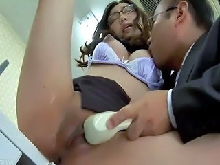 Office Shaved Asian Asian Babe Babe Ass Japanese Babe