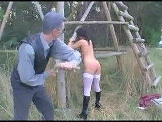 Spanking Old And Young Outdoor Old And Young Outdoor