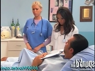 Nurse Pornstar Threesome Interracial Threesome Nurse Asian Son