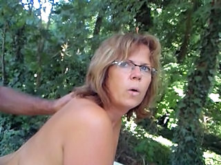 Mature Doggystyle Outdoor Glasses Mature Mature Ass Outdoor